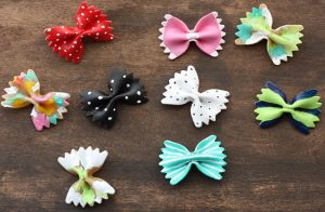 Bow-Tie Pasta Hair Barrettes